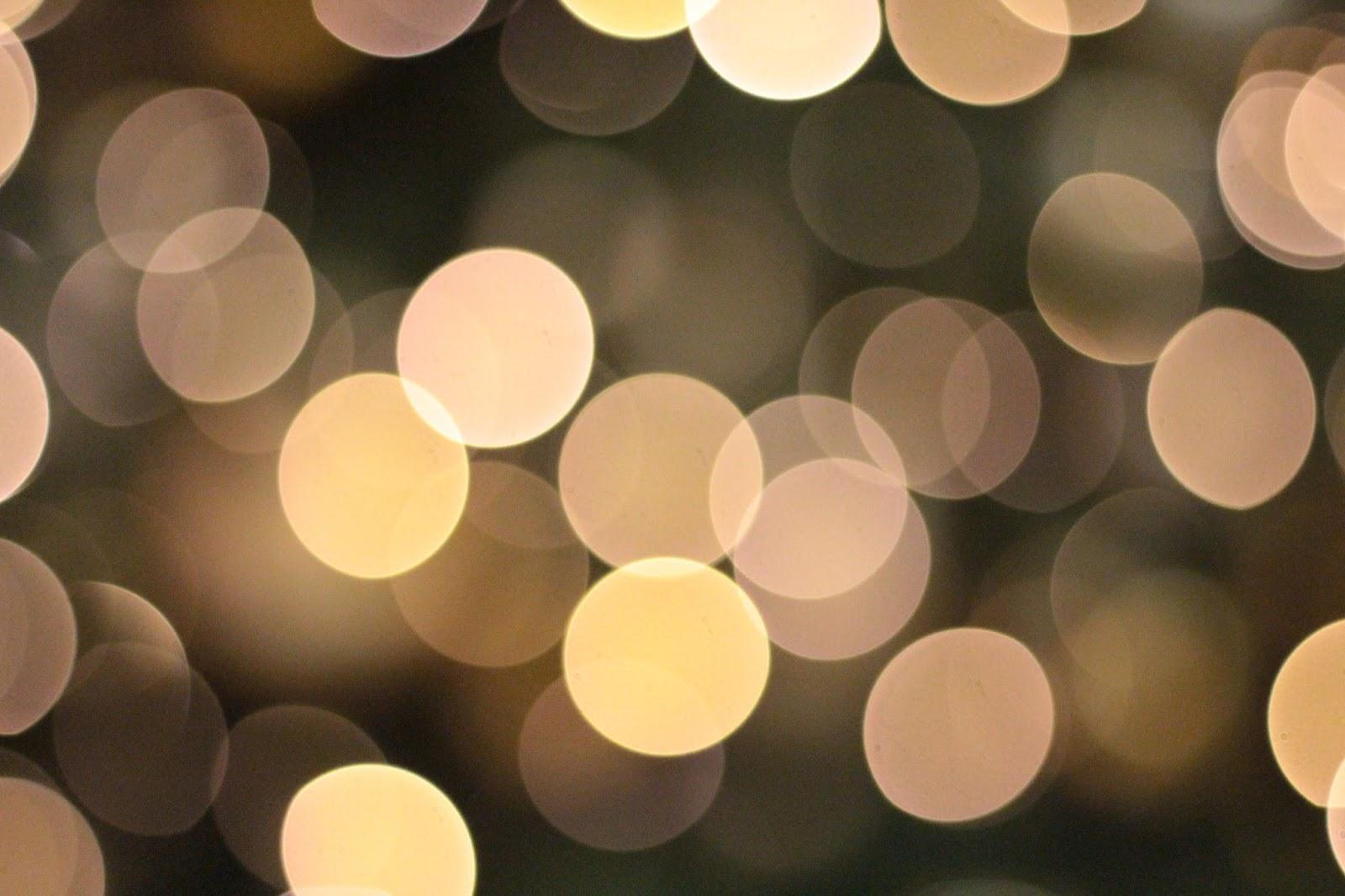 christmas tree bokeh light effect