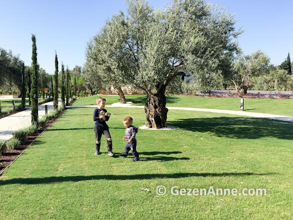 Ramada Kazdağları otelin geniş bahçesi çocuklar için çok uygun, Güre