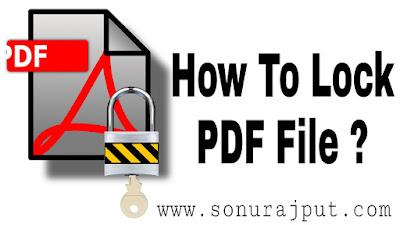 How To Lock PDF File