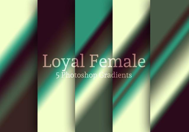 Loyal Female Photoshop Gradients