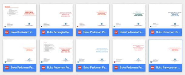 Buku Pedoman dan Buku Kurikulum 2013 PAUD Lengkap