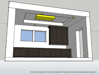 Coffered Ceiling & LED Lighting Layout-CADD Designs by Scotts Contracting