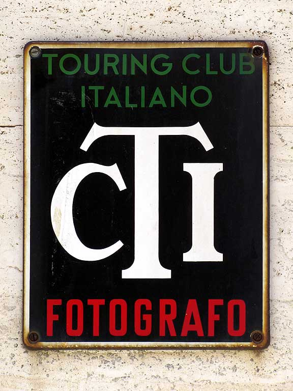 Italian Touring Club photographer plaque, Livorno