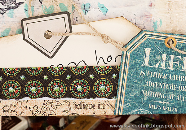 Layers of ink - Create Mixed Media Layout Tutorial by Anna-Karin.
