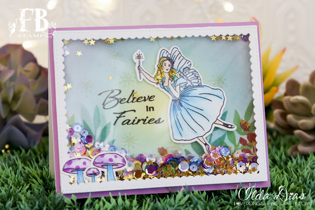 Make a Wish Shaker Birthday Card featuringMake a Wish Shaker Birthday Card featuring Fairy Wishes Stamp Set by ilovedoingallthingscrafty Fairy Wishes Stamp Set