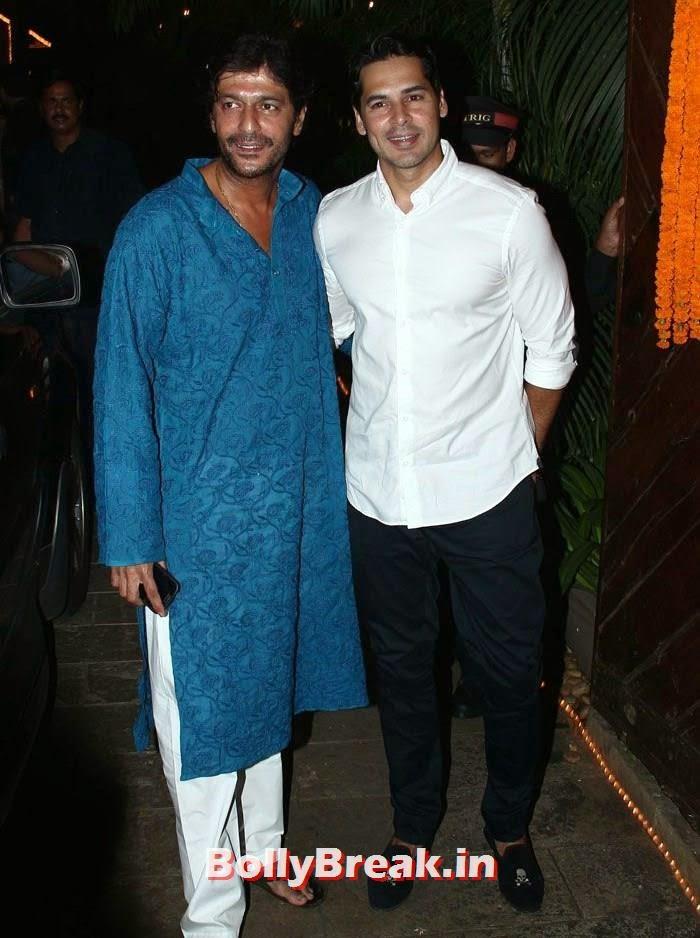 Chunky Pandey, Dino Morea, Photos from Amitabh Bachchan's Diwali Bash 2014