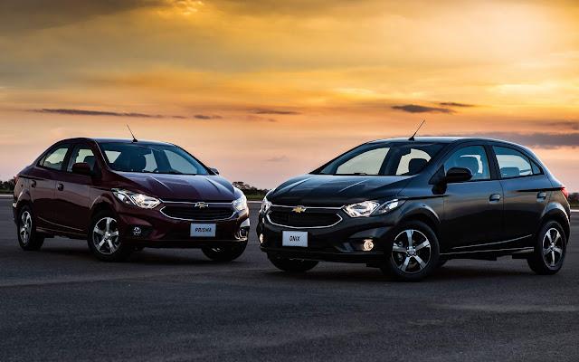Novos Chevrolet Onix e Prisma 2017