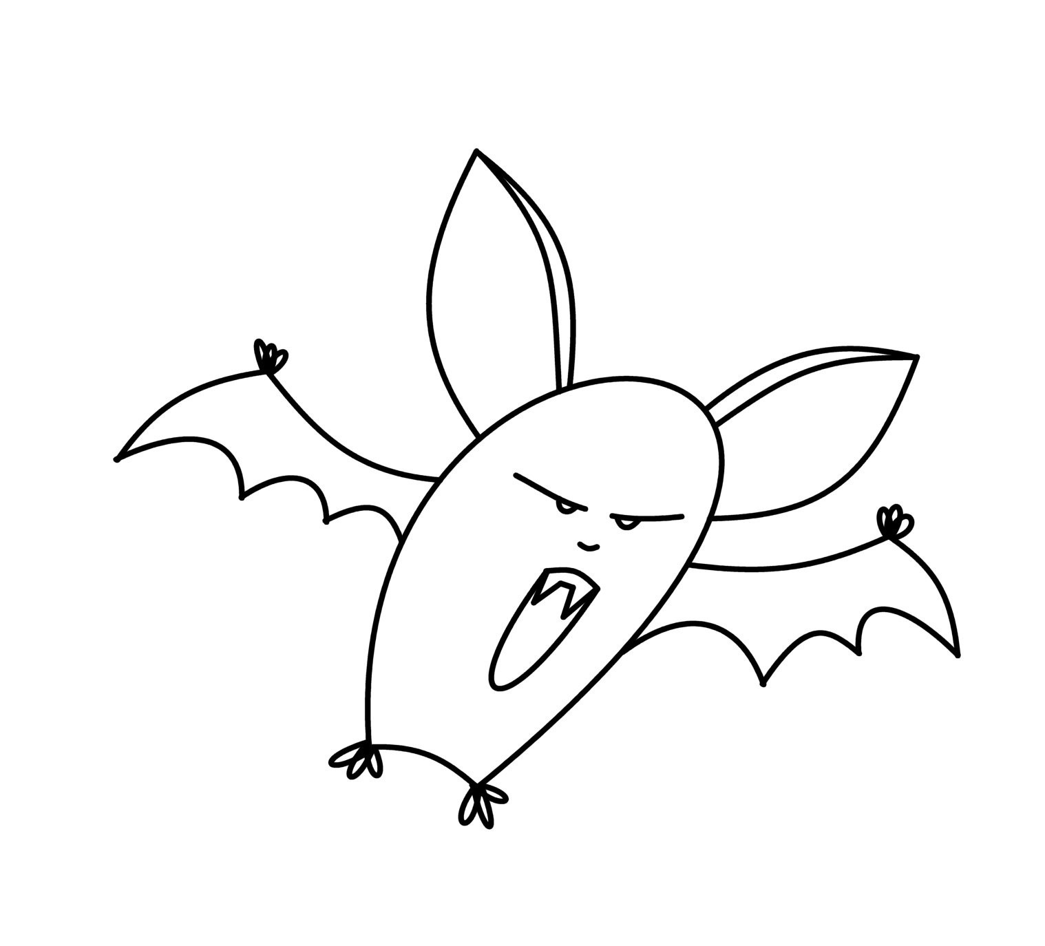 How To Draw Cartoons: Vampire Bat