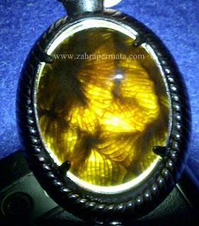 Leontin Batu Motif Kaki Seribu - ZP 649