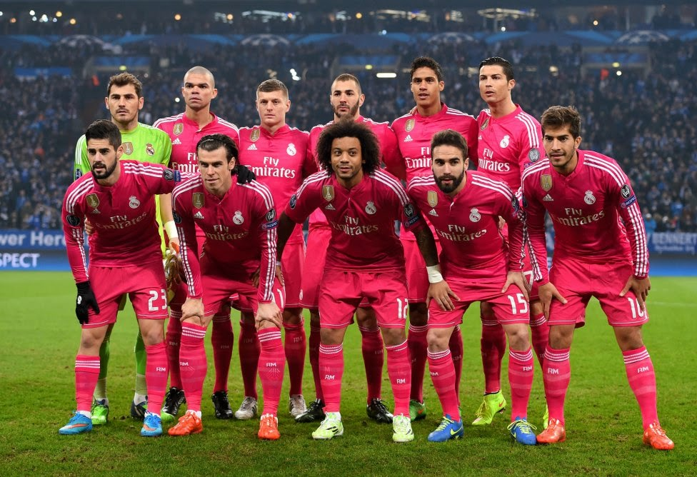 Real Madrid Team Photo Champions League 2015 vs Schelke