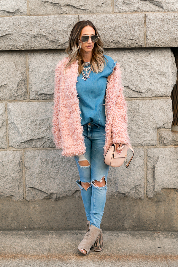 parlor girl pink and denim style fashion blogger