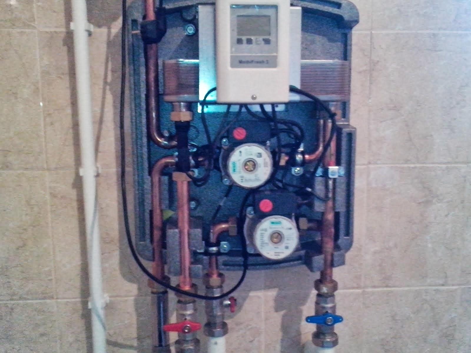 монтаж станции подготовки горячей воды системы водоснабжения частного дома