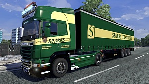 Scania R Sparks skin + trailer