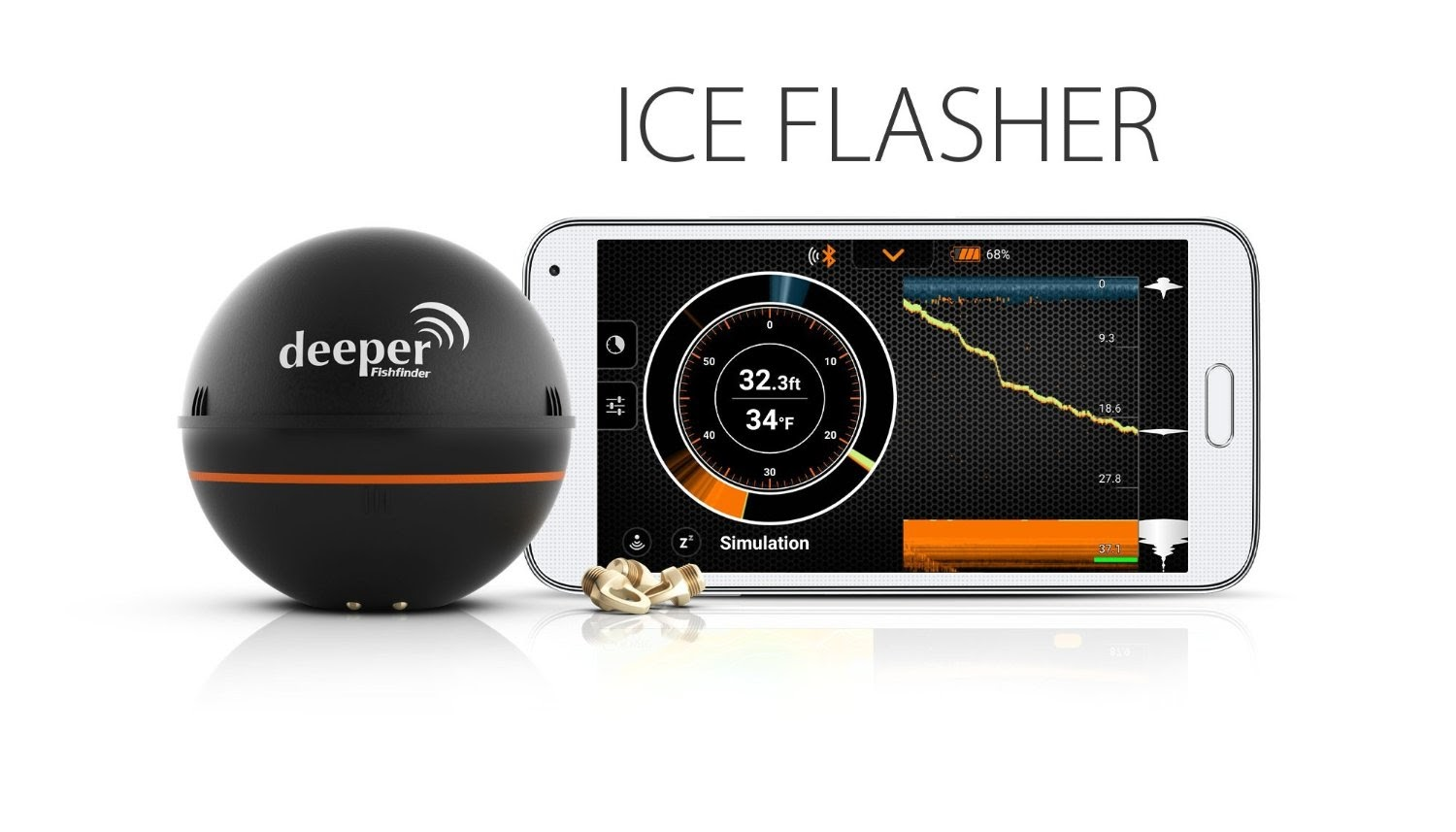 Health and fitness den deeper smart portable fish finder for Ice fishing flasher