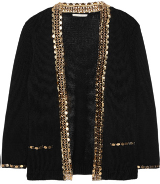maje chain embellished jacket