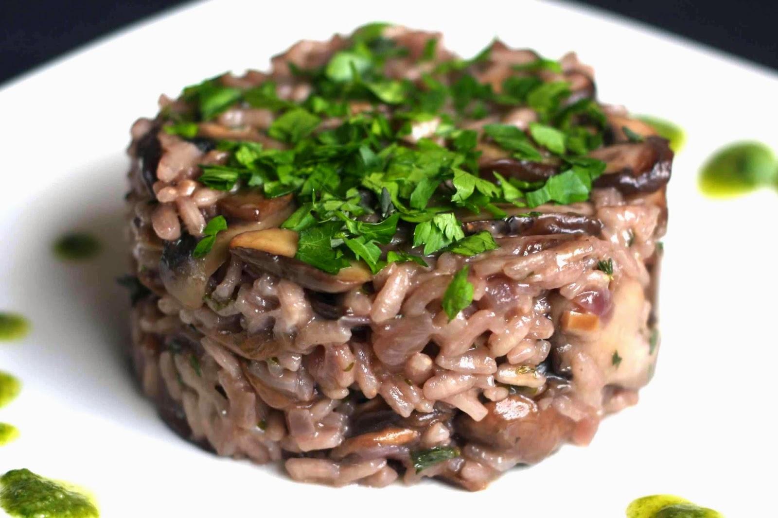 igloo cooking : RISSOTTO DE SETAS Y CHAMPIÑONES AL VINO TINTO