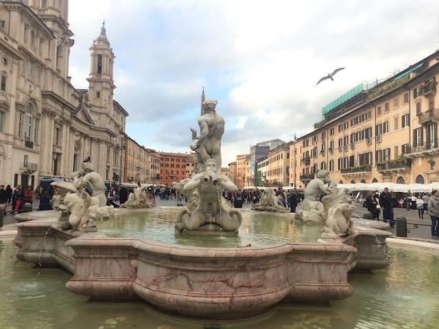 Fontana del Moro at Piazza Navona, Rome, Italy