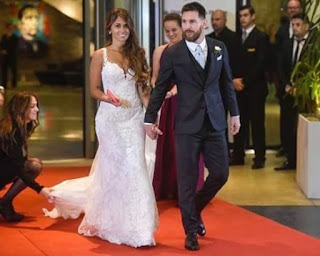 lionel messi weds his long time girlfirend Antonella (Photos)