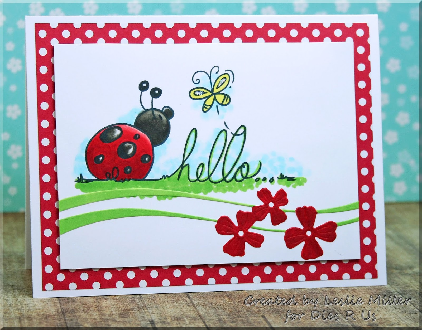 Ive Used Ladybug Hello Digital Stamp From Bugaboo With A Die Cut Poppystamps Petal Ribbon This Is Such Pretty Swoosh Of Floral Fun Which Can Be
