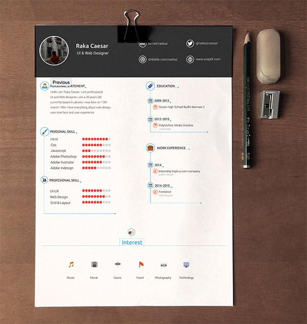 Kumpulan cv dan resume template gratis resume cv template free download by raka caesar yelopaper Choice Image