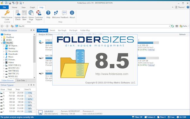 FolderSizes Enterprise 8 serial key