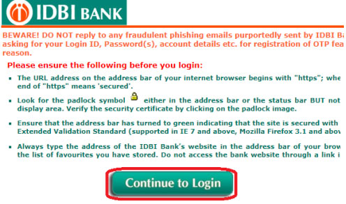 how to apply for cheque book in idbi bank online