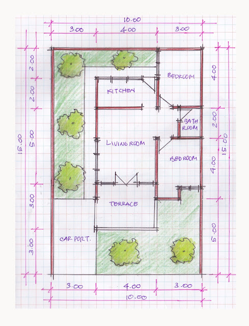 layout of house plan A-06b