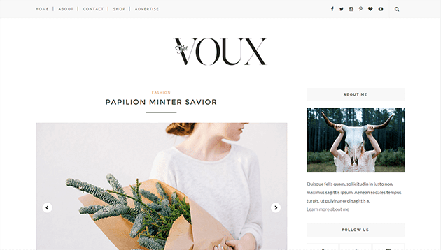 free html blog templates code - voux minimal responsive blogger template themexpose