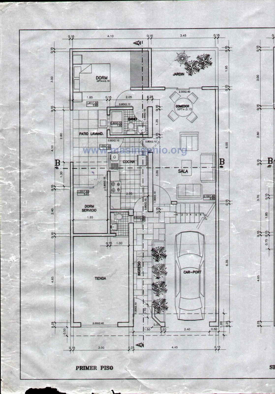 Paginas para disear casas planta baja este el el plano de for Pagina para hacer planos gratis