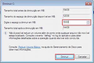Assistente de criação de partições do Windows