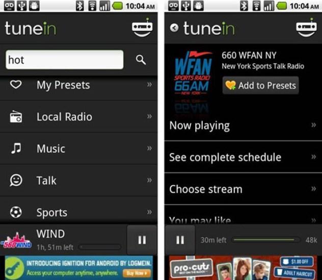 TuneIn Radio Pro - Apk - Rádio Ao Vivo de Todo o Mundo