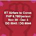 Promo Roundtrip Airfare to Coron