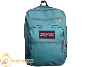 Jansport backpack in blue, very unique design