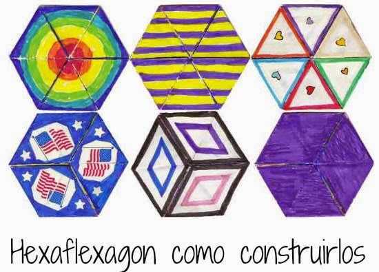 hexaflexagon, flexágono, papel, tutoriales, manualidades