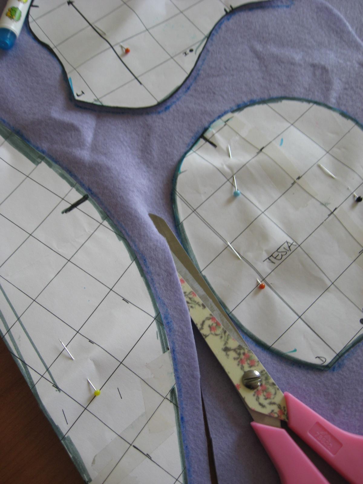 Carta e Cuci  L Orso - Work in progress - Come segnare e tagliare le ... c267ee00d073