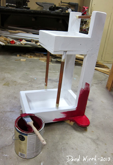 painting a utility cart for the shop, garage