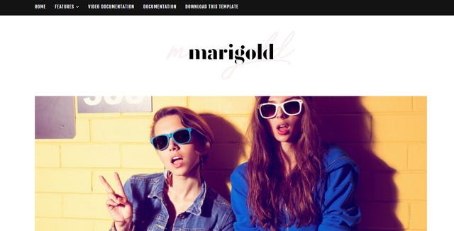 Marigold Personal Responsive Blogger Templates
