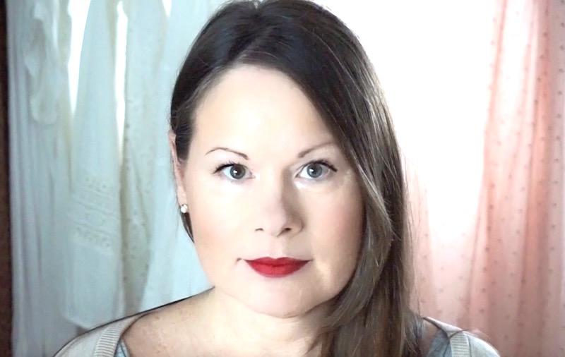 Schöner Make Up Look Für Jeden Tag Roter Lippenstift Nude Für