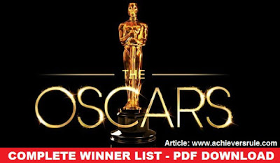 90th OSCAR Award 2018: Complete Winner List