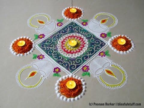 Diwali special Diya rangoli design Innovative rangoli