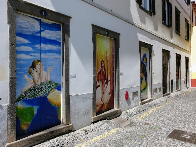 Painted Doors Project in Old Town Funchal in Madeira