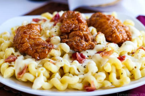 HONEY PEPPER CHICKEN MAC AND CHEESE #dinner #chicken