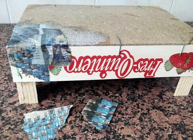 Cartapesta en caja de fresas - foto 1