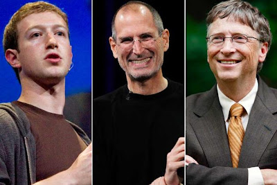 Abandonar la universidad - Steve Jobs, Bill Gates y Mark Zuckerberg