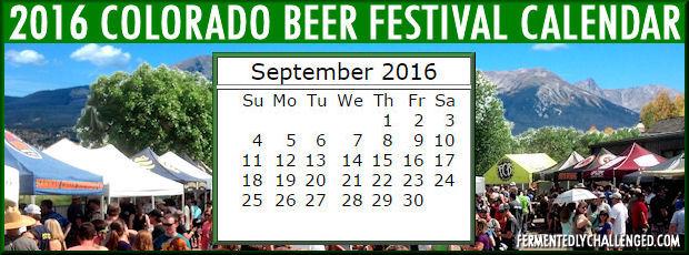 September 2016 Colorado Beer Festivals Calendar