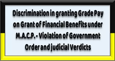 MACP: Violation of Government Order and judicial Verdicts on