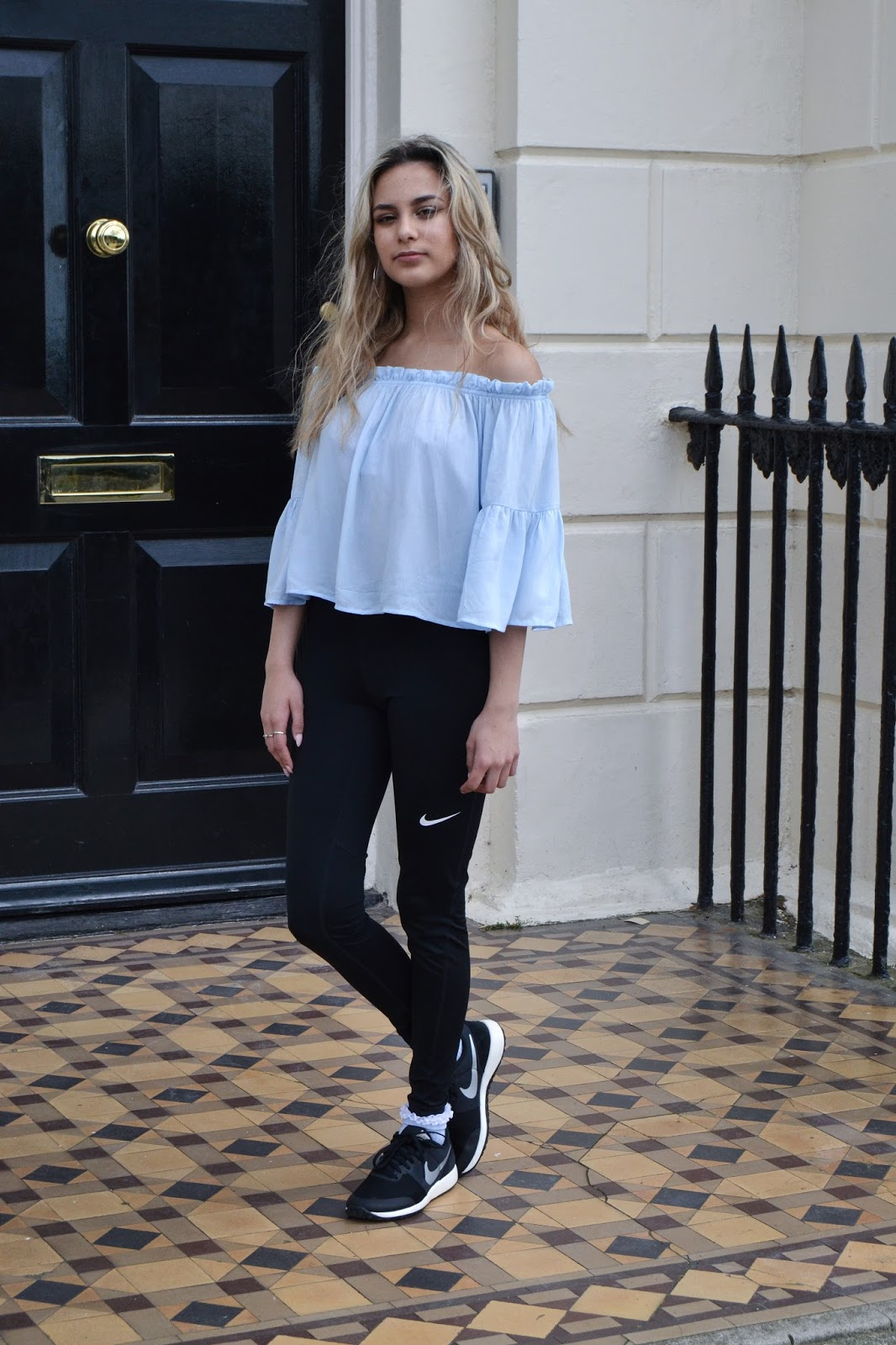 off the shoulder bardot athleisure wear sports luxe ss16 style trends fashion