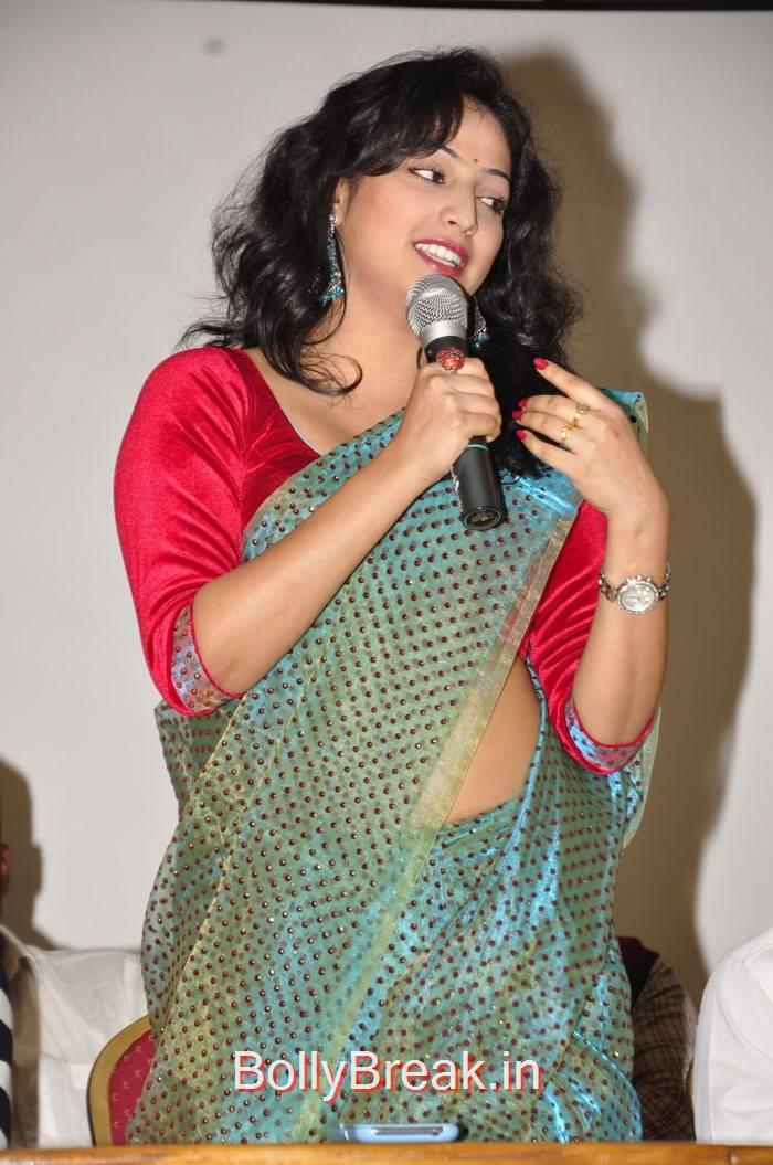 Haripriya Photos, Haripriya Hot HD Images in Teal Green Colour Saree