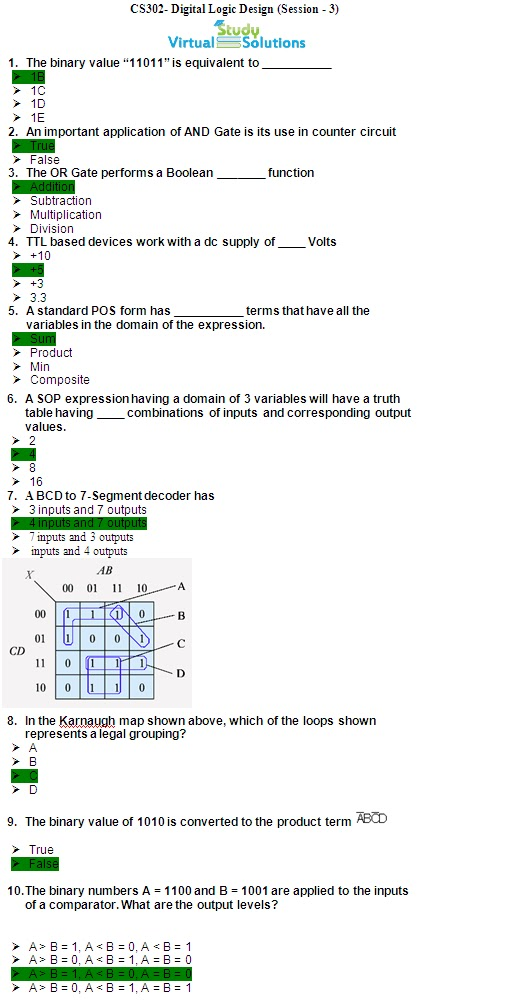 CS302 Midterm Past Paper 2005 to 2010 Sample Page