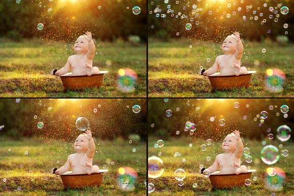 45+ Colorful Bubbles Photo Overlays